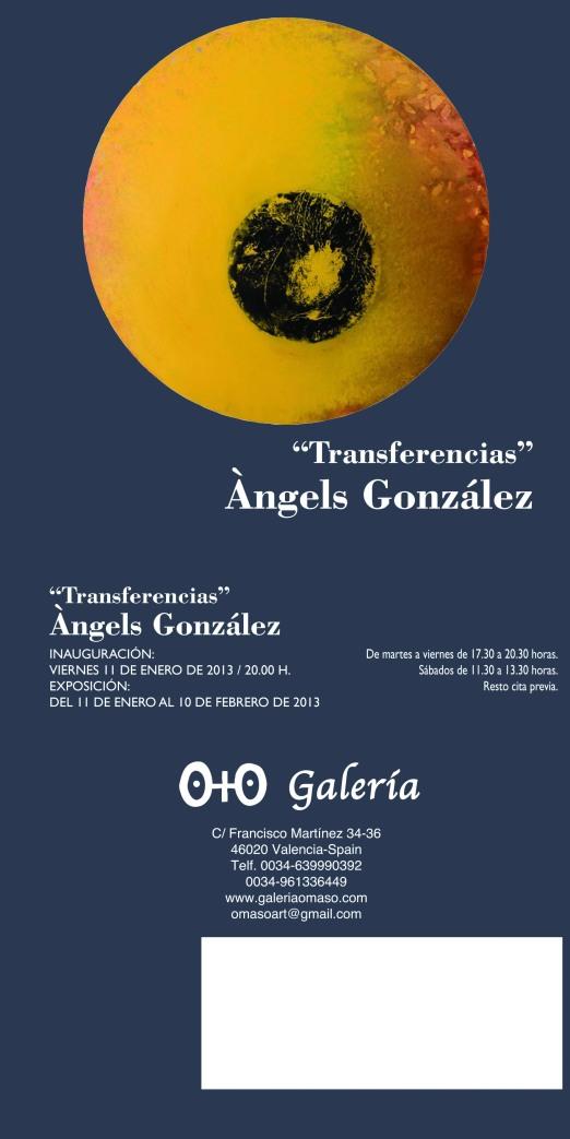 invitacion o + o Àngels González